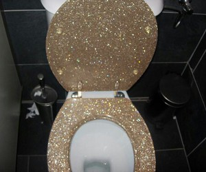 glitter, toilet, and grunge image