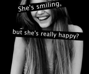 happy, smile, and sad image