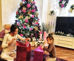 christmas, love, and family image