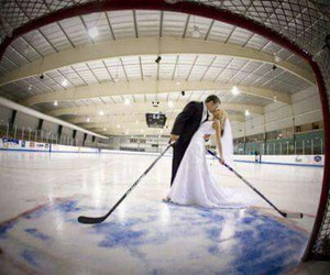 hockey, love, and couple image