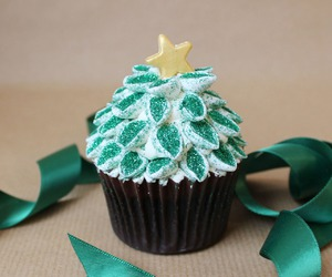 christmas tree, dessert, and green image