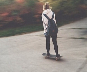 girl and skateboard image