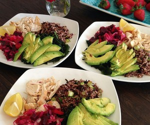 healthy, food, and dinner image