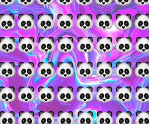 emoji, panda, and wallpaper image