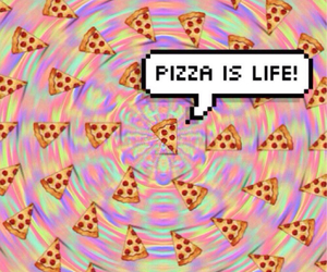 life, we heart it, and pizza image