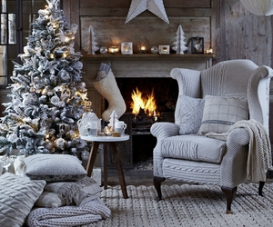 christmas, interior, and white image