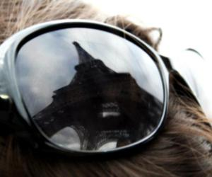 eiffel tower, glasses, and love image