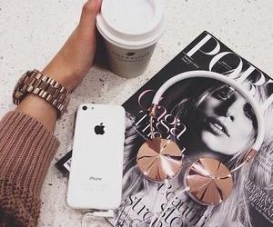 iphone, coffee, and magazine image
