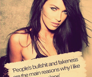 megan fox, quotes, and alone image