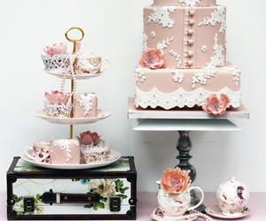 birthday, flowers, and lace image