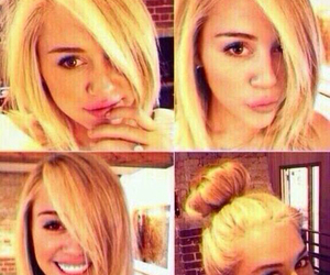blonde, hair, and miley cyrus image