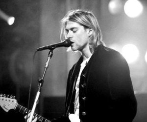 black and white, concert, and nirvana image