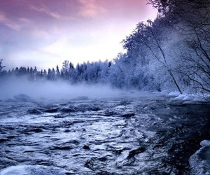 nature, winter, and river image