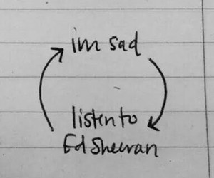 ed sheeran, music, and sad image