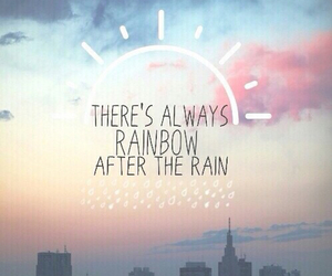 rainbow, rain, and quotes image