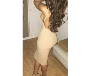 curls, outfit, and dress image