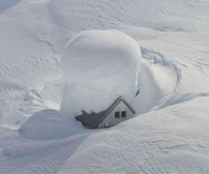 snow and house image