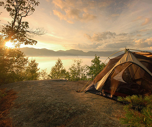 camping, mountains, and nature image