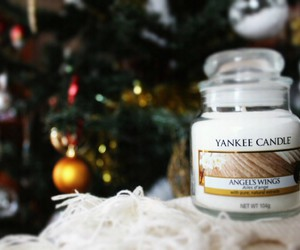 bougie, yankee+candle, and christmas image