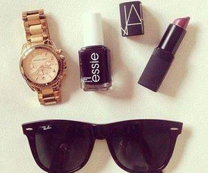 sunglasses, lipstick, and style image