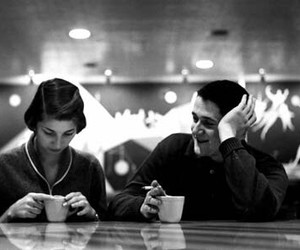 black and white, bw, and couple image
