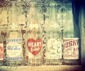 vintage, bottle, and heart image