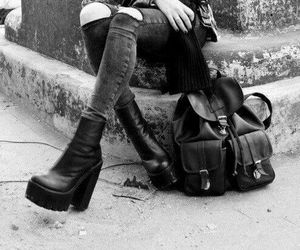 grunge, black, and ankle boots image
