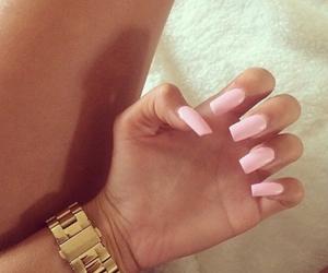 nails, pink, and pink nails image