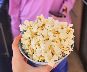 popcorn, food, and tumblr image