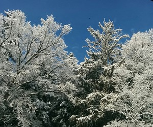 beautiful, snow, and blue image
