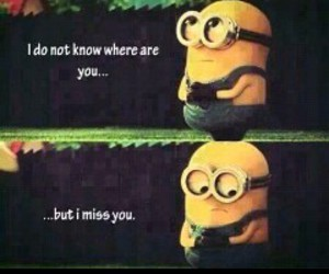 minions, miss, and miss you image