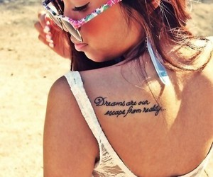 tattoo, girl, and Dream image