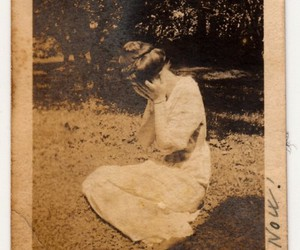 vintage, woman, and old image