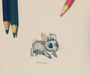 art, bunny, and color image