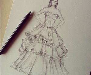 drawing, fashion, and doll-memories image