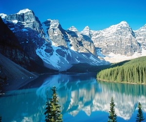 mountains, lake, and beautiful image