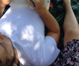 books, couple, and Hot image