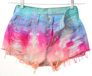 cut offs, shorts, and tie dye image