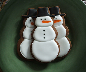 snowman, christmas, and cookie image