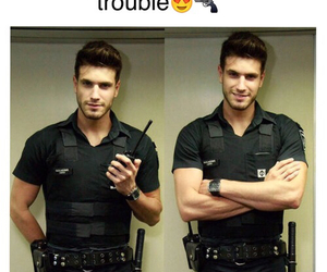 Hot, boy, and police image