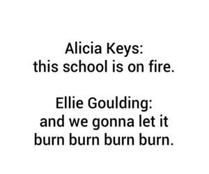 alicia keys, school, and burn image
