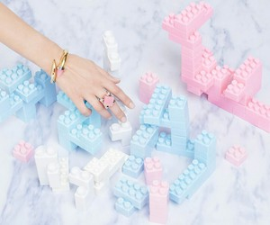 pastel, pink, and lego image