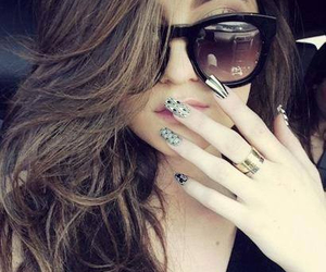 nails, kylie jenner, and hair image