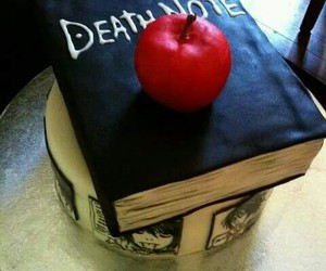 death note, light yagami, and cake image