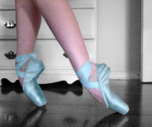 ballet, blue, and slippers image