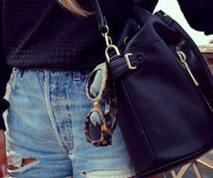 outfit, bag, and denim image