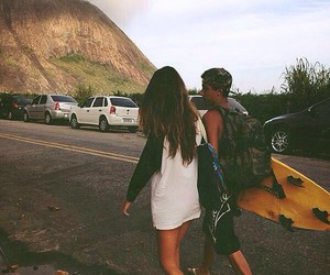 couple, surf, and love image