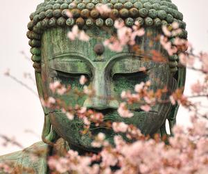 Buddha, flowers, and japan image