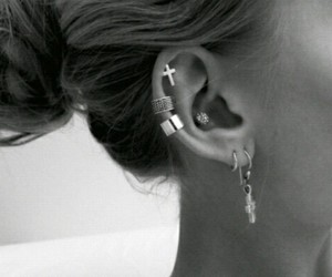 earrings, modern, and pretty image