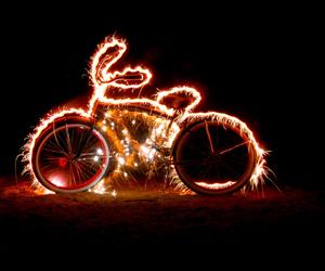 bicycle, bike, and lights image